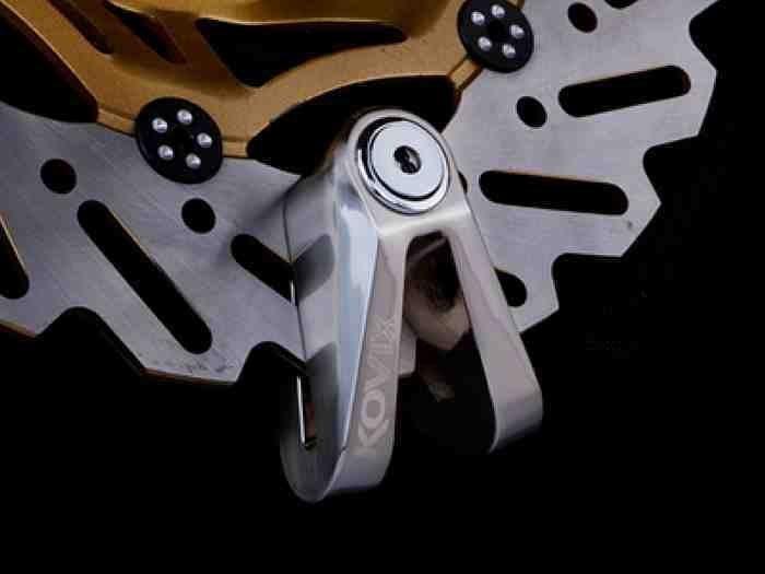 KOVIX KV1 不鏽鋼色版 公司貨 送原廠收納袋+提醒繩 德國鎖心  碟煞鎖/重機族最愛/鯨魚車舖2