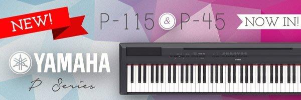 造韻樂器音響- JU-MUSIC - 全新公司貨 山葉 YAMAHA 數位 電鋼琴 P-45 P45 另有 P-115