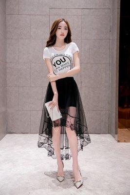 夏款魚尾半身裙包臀裙A字蓬蓬裙