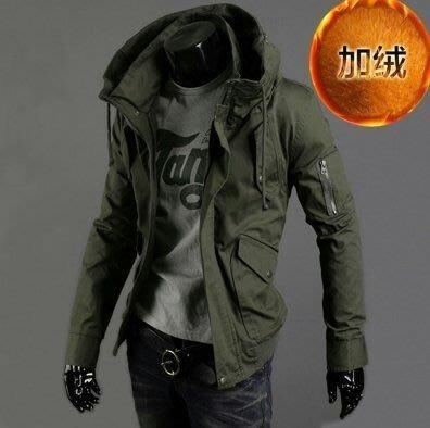 【美式潮男實拍】潮流休閒男裝軍旅工裝連帽夾克外套加厚🔥保暖🔥棉衣外套【S-4XL】