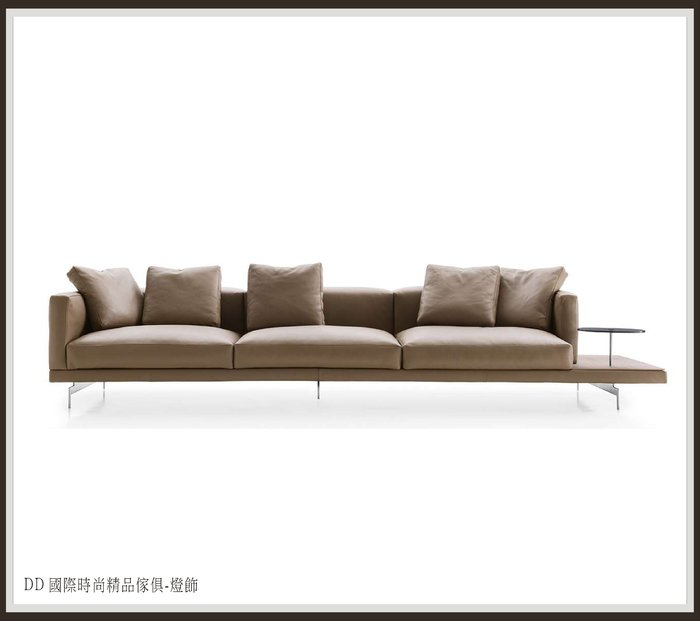 DD 國際時尚傢俱-燈飾 B&B Italia DOCK 3 seater sofa全牛皮沙發 (復刻版)