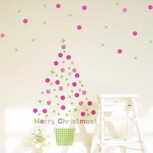 小妮子的家@彩色聖誕樹壁貼/牆貼/玻璃貼/磁磚貼/汽車貼/家具貼