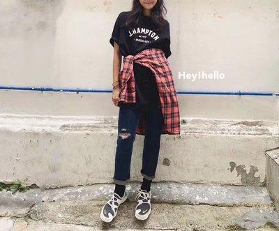 (預購)韓國寬鬆長版印字t恤