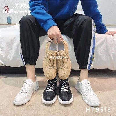 發發潮流服飾3號碼頭男鞋2019春夏季正韓軟皮耐磨防滑時尚潮流休閒板鞋9512