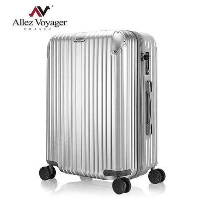 行李箱 旅行箱 法國 奧莉薇閣28吋 PC金屬護角耐撞擊硬殼 箱見恨晚-贈送防塵套-銀色