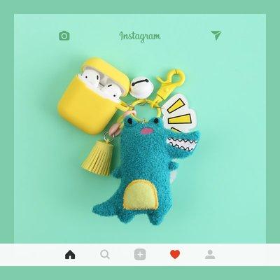 藍芽耳機airpods pro保護套 韓國卡通可愛鱷魚airpods2保護套硅膠蘋果無線藍牙耳機盒子殼超薄