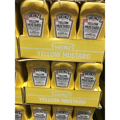 亨氏黃芥末醬 396g*2入 Heinz yellow mustard