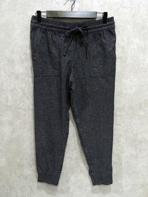 Maple麋鹿小舖 美國品牌LOFT  * 深灰色綁帶休閒縮口長褲* ( 現貨S號 )