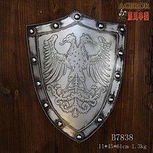 裝飾工藝盾牌仿古羅馬盾牌影視舞台道具騎士盔甲盾牌