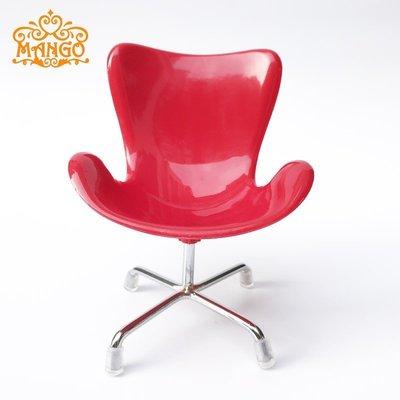1:6娃娃屋dollhouse迷你家具模型bjd周邊道具6分雞蛋椅扶手椅轉椅@um55950