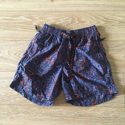 NIKE LAB ACG 復古印花 尼龍 橘腰帶 機能短褲 寬版口袋 輕量透氣 登山溯溪衝浪 海灘褲 XS 二手極新