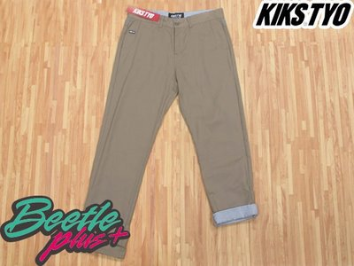 BEETLE KIKS TYO CHINO PANT 卡其 爆裂紋 反折 格紋工作褲 CEMENT 1939 S XL