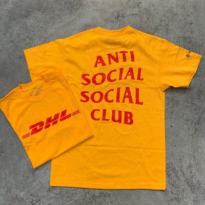 ☆LimeLight☆ ANTI SOCIAL SOCIAL CLUB x DHL TEE 短袖