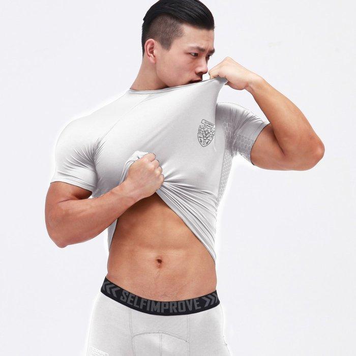 【OTOKO Men's Boutique】固制:有種部隊基本款彈力緊身短袖/白色(台灣獨家代理)