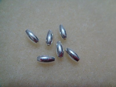 【Candy小鋪】925純銀DIY材料配件SA31~3mm*6mm光面橄欖橢圓米珠~手鍊 手作 鋼絲線 蠟線 台南市