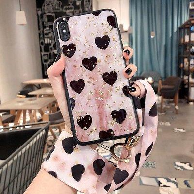 iPhone 6 7 8 Plus i6s i7 i8 iPhone8  掛繩 閃粉 掛脖 愛心 女 殼 套 全包 軟殼