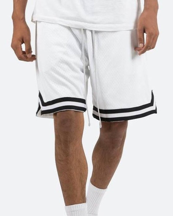 [ 羅崴森林 ] 現貨MNML黑白拉繩籃球網短褲S/M/L