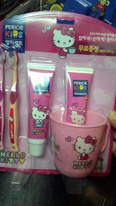 韓國進口LG倍瑞兒Hello  KITTY凱蒂貓/SUPER WING兒童牙刷組~小朋友超愛牙刷&牙膏組~聖誕節禮物