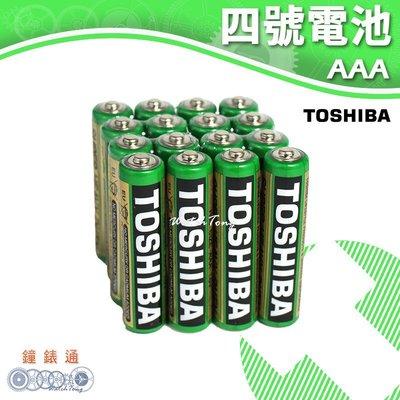 【鐘錶通】TOSHIBA 東芝-4號電池 (16入) / 碳鋅電池 / 乾電池 / 環保電池
