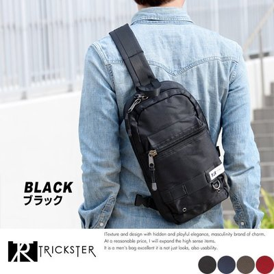 黑色限量現貨配送【TRICKSTER】日本品牌 斜背包 腳踏車包 單肩背IPAD袋 多夾層機能包 tr002