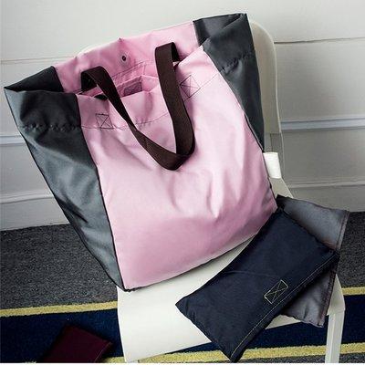 大容量可折叠便携购物袋超市购物包 購物袋 环保袋帆布单肩女包 單肩包 女包 手提包 手提袋 防水手提袋