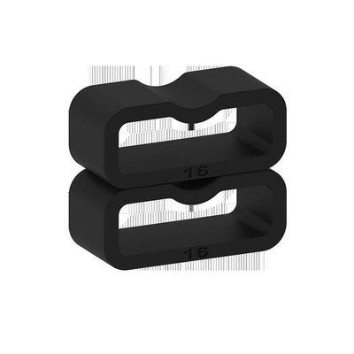 適用佳明Garmin熱銷 Forerun新ner 225手錶帶膠圈 硅膠黑色固定卡扣錶帶環圈錶扣TY036
