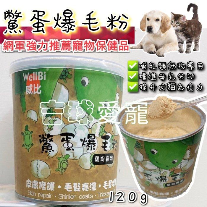 台灣製??WellBi威比 鱉蛋爆毛粉  寵物營養品 皮毛保健 犬貓專用120g