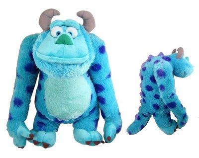 【卡漫迷】怪獸電力公司 絨毛娃娃 ㊣版 玩偶 Sulley 毛怪 約46cm 長毛款 (L) ~7 2 0元