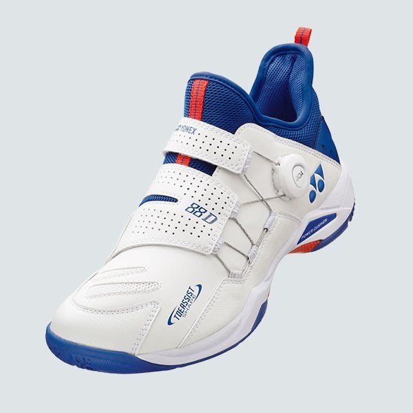 [健康羽球館] YONEX(YY) 頂級羽球鞋 SHB 88 DIAL (SHB 88 DEX) (白/藍) 共2色