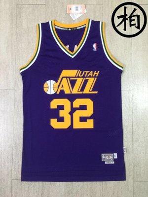 【柏】ADIDAS NBA 爵士隊 KARL MALONE 綽號 THE MAILMAN 郵差 HWC 復古 洞洞 球衣