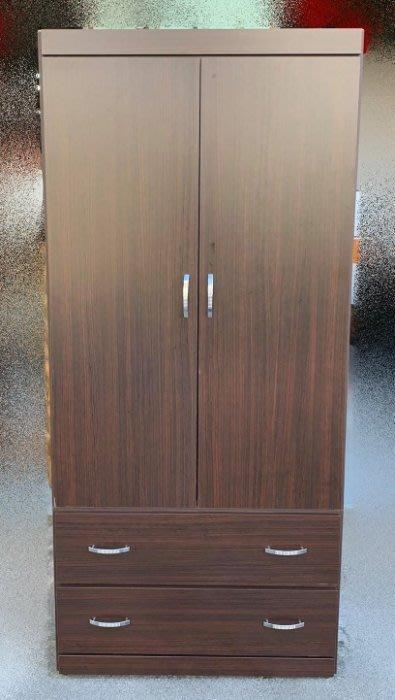 台中二手家具買賣 推薦 西屯樂居中古傢俱館OH11-043BD*全新胡桃木衣櫃*櫥櫃 斗櫃 臥式家具 床組床墊化妝鏡床架