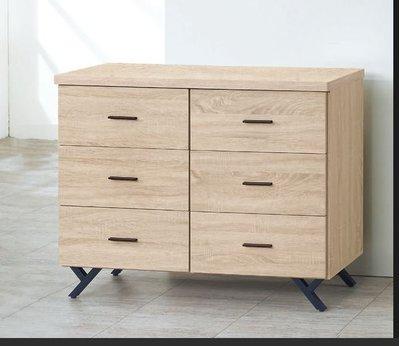 【南洋休閒傢俱】精選時尚斗櫃  置物櫃 收納櫃 設計櫃 造形櫃-原切橡木六斗櫃CY213-6