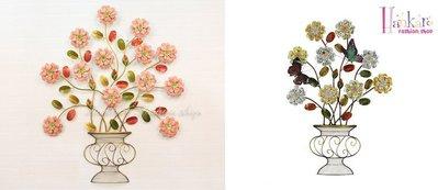 ☆[Hankaro]☆ 浪漫歐式鐵藝半立體效果花朵牆壁掛飾(溫馨素雅/優雅高貴)