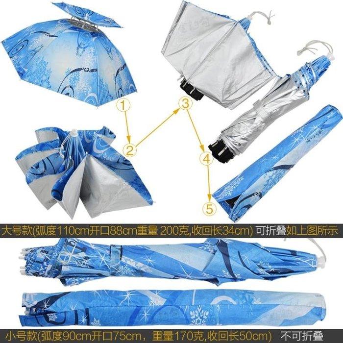 釣魚傘帽頭戴傘帽大號垂釣雙層防曬