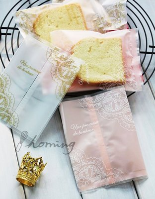 【homing】(7 X 9.5 cm)法式古典蕾絲烘焙點心西點包裝袋/餅乾袋/甜點袋/糖果袋/雪Q餅/牛軋餅