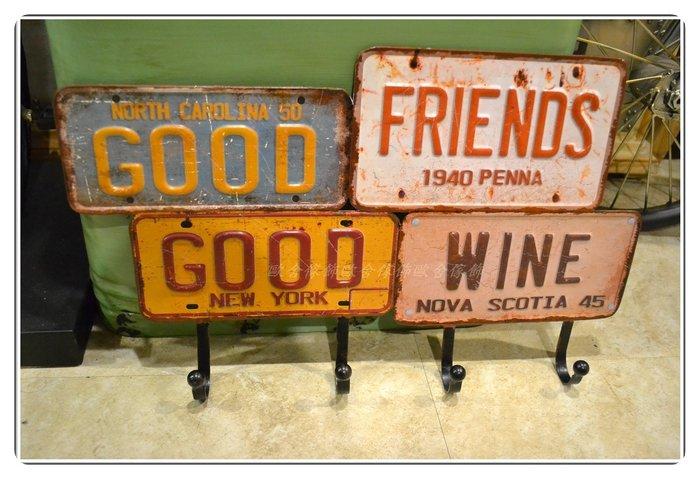 衣架掛勾 復古鐵製車牌 造型杯架壁架 美式鄉村工業風民宿餐廳營業場所禮品【【歐舍家飾】】