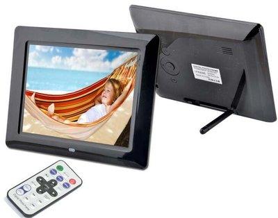 送轉接卡套特價名牌相框8寸 超薄 8吋數位相框/數碼相框 電子相冊 影音播放 MP3 MP4 內建喇叭 遙控器