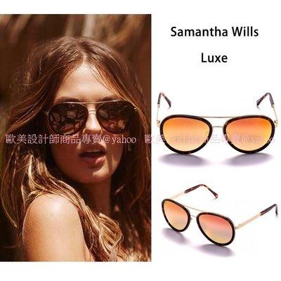 澳洲Samantha Wills Luxe 鏡面金色 Aviator 飛行員 太陽眼鏡 Sunday Somewhere