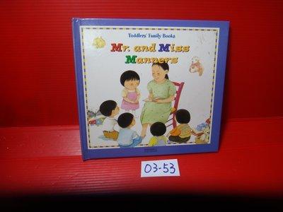 【愛悅二手書坊 03-53】Mr. and Miss Manners