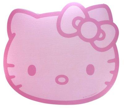 【卡漫迷】 Hello Kitty 滑鼠墊 大臉粉  ㊣版 防滑墊 韓版 高彈性精準 三麗鷗 軟膠 止滑墊 凱蒂貓 泡棉