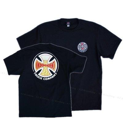 【 K.F.M 】INDEPENDENT Suds Tee 滑板輪架元老級 短袖 Logo 美國圓筒T 黑色