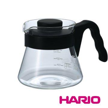 🌟現貨🌟HARIO V60好握黑色咖啡壺 VCS-01 450ML 咖啡壺 玻璃壺 咖啡公杯 花茶壺 公杯 玻璃水瓶
