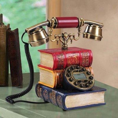 217華城小鋪**超取當日出貨** 古董電話 仿古電話 復古電話 有線電話 來電顯示 造型電話 書本造型電話