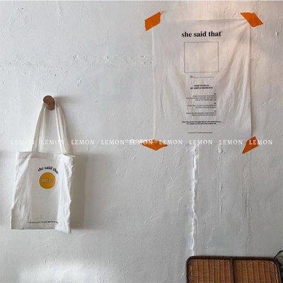 ☆趙小姐的店☆ 正韓INS同款英文掛布貼墻民宿臥室家居裝飾拍照道具網紅背景布