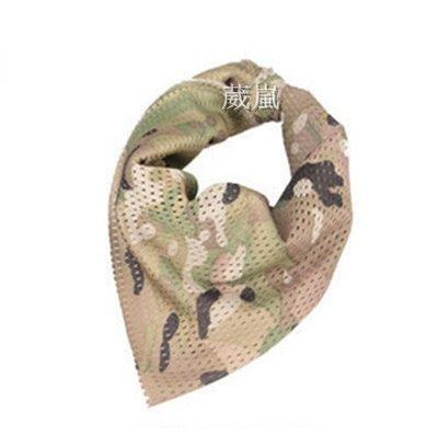 01  透氣 迷彩 圍巾 多地形 自行車 腳踏車 旅遊 登山 口罩 頭巾 領巾 方巾 三角巾 生存遊戲 防塵 防曬