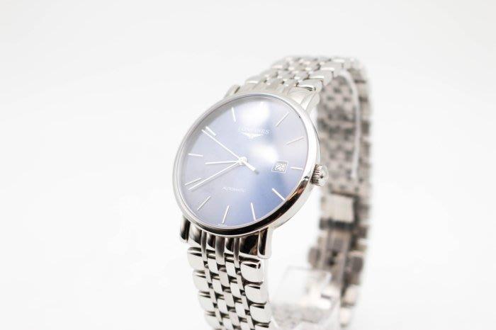 【高雄青蘋果3C】LONGINES 浪琴 L49104926 琴韻羅馬優雅腕錶 藍面39mm 男錶 浪琴錶 #34099