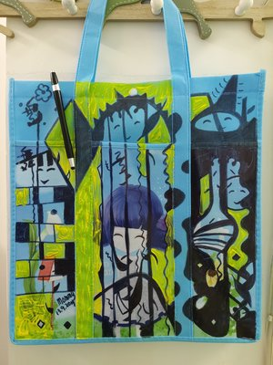 CUTE BAG HOME DECORATION ACCESSORIES ART PAINTING SARAH CHEUNG COLLECTOR'S ITEM