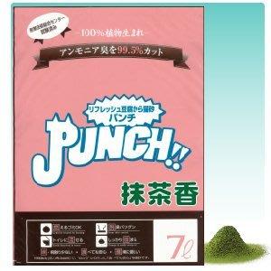 &米寶寵舖$ 三包免運 日本進口 PUNCH 雙孔環保 豆腐貓砂 7L 抹茶香 豆腐砂 環保砂 貓沙