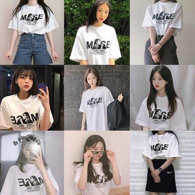 ( SLEAZY CORNER ) MUSE GRAPHIC-HALF T SHIRT(WHITE) 短袖上衣/短袖t恤