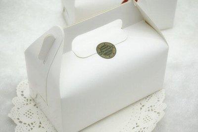 簡約純白素面手提西點盒 磅蛋糕曲奇餅乾烘焙杯子蛋糕盒白色瑪德蓮鳳梨酥馬卡龍泡芙打包紙盒布丁奶酪保羅瓶烤布蕾